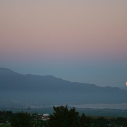 Moonset over West Maui and Molokai